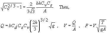 Trapezoidal flume equations