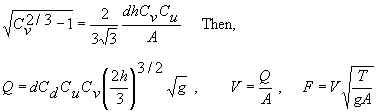 U flume equations