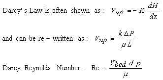 Darcy equations