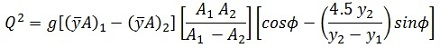 Hydraulic jump pipe sequent depth equation
