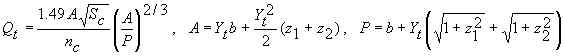 Tailwater equation