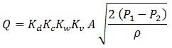 Pressure Relief Valve Flow Rate