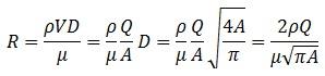 Pressure Relief Valve Reynolds Number Equations